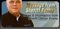 Message from Sheriff Evans
